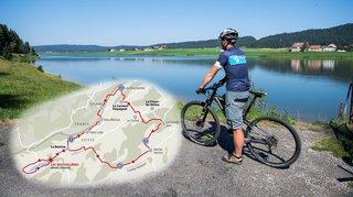 """Escapade """"fraîcheur"""" à vélo autour de La Brévine à plus de 1000 m d'altitude"""