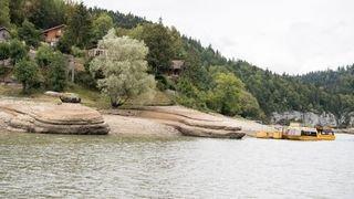 Les bassins du Doubs transformés par le manque d'eau