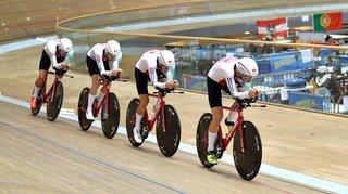 Valère Thiébaud sur la piste olympique