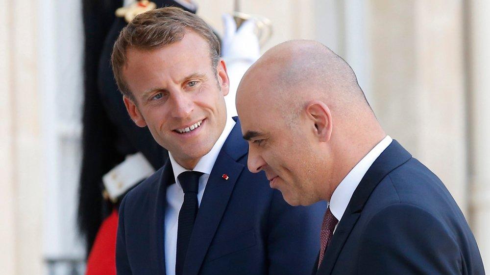 Emmanuel Macron et Alain Berset se sont rencontrés, hier, à Paris.