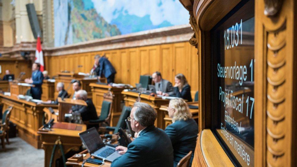 Après le National, le Projet fiscal 2017 retourne au Conseil des Etats, pour que le dossier soit bouclé avant la fin de la session parlementaire.