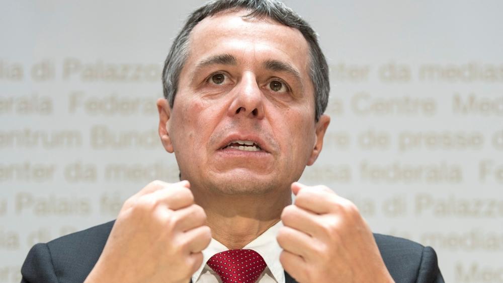 Ignazio Cassis, le ministre des Affaires étrangères, a fait le point, hier, sur le dossier européen.