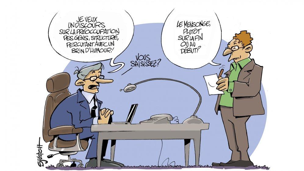 Alors que certains politiciens indiquent rédiger eux-même leurs discours (selon les occasions), des prête-plume affirment le contraire. «C'est une partie de pocker menteur», dit l'un d'eux.