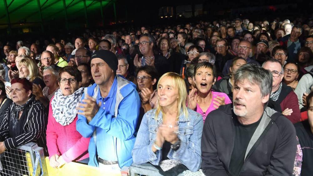 Le public (ici, lors du concert de Florent Pagny jeudi soir) a répondu présent en masse pour cette 27e édition du Chant du Gros.