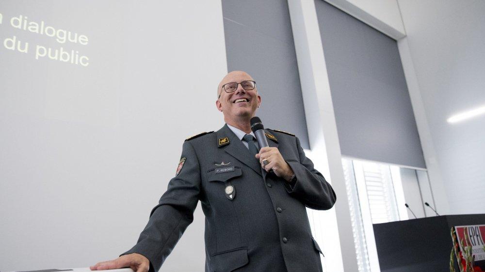 Le chef de l'Armée, le commandant de corps Philippe Rebord, était jeudi à Microcity devant un parterre d'invités du monde politique, de l'économie et de la culture.