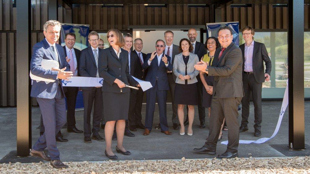 Inauguration de l'usine Celgene à Couvet, le 11 septembre 2018.