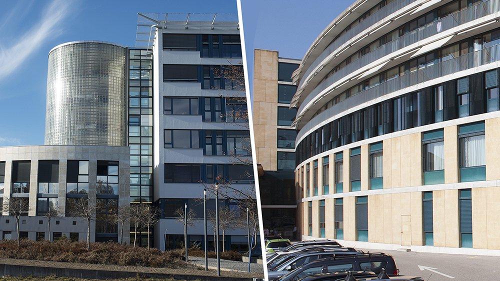 Les hôpitaux de La Chaux-de-Fonds et Neuchâtel.