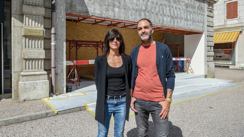 Les locaux sont encore en travaux, mais Laura Colombo et David Rustico inaugureront Marché 6 le 26 octobre.