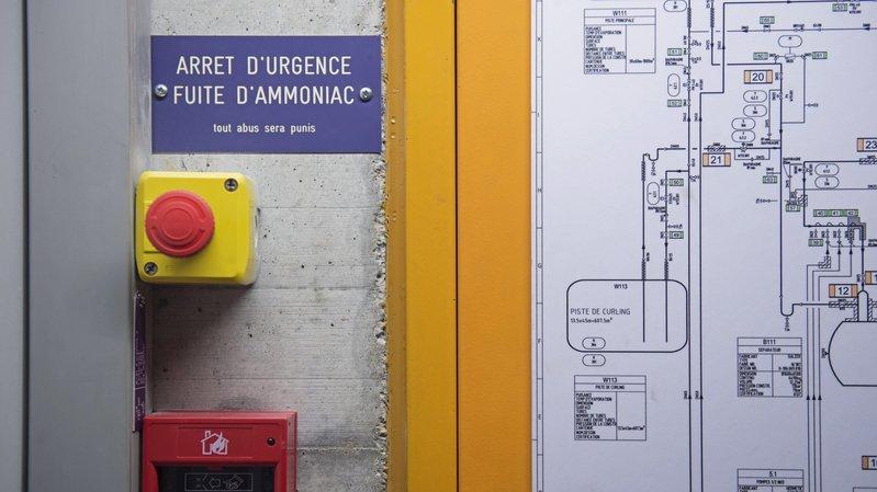 Dans une patinoire (ici celles du Littoral à Neuchâtel), les risques liés à l'ammoniac sont toujours pris très au sérieux.