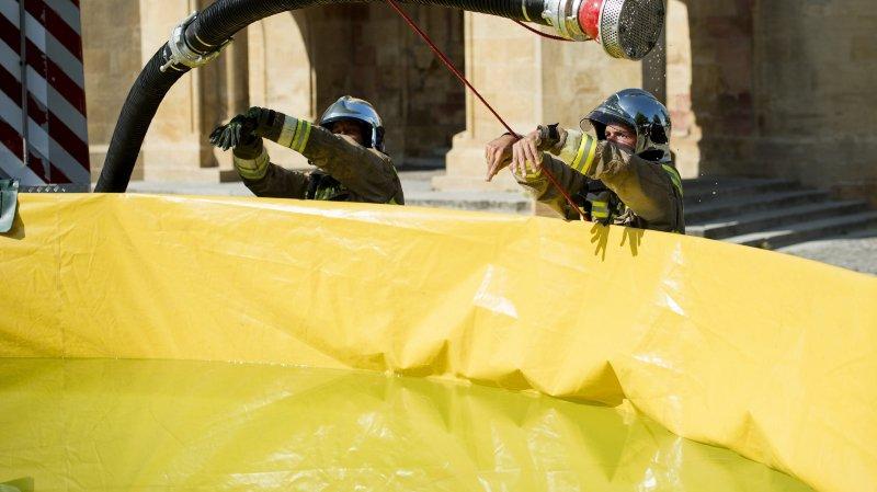 Les pompiers sont actuellement en intervention pour des inondations à Bôle et Colombier (image d'illustration).