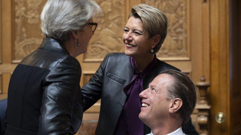 """Et que fera le PLR si la conseillère aux Etats Karin Keller-Sutter n'est pas candidate au Conseil fédéral, s'interroge le """"Tages Anzeiger""""."""