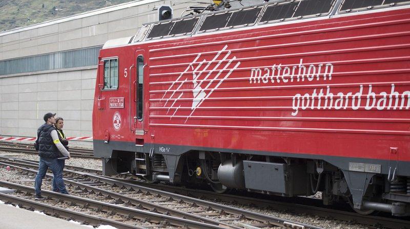 Un train du Matterhorn Gotthard-Bahn déraille à Fiesch, pas de blessé