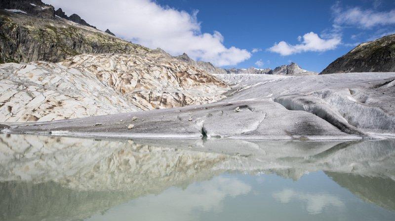Le Valais sera touché moins vite car les glaciers sont plus grands. (Illustration: Glacier du Rhône)