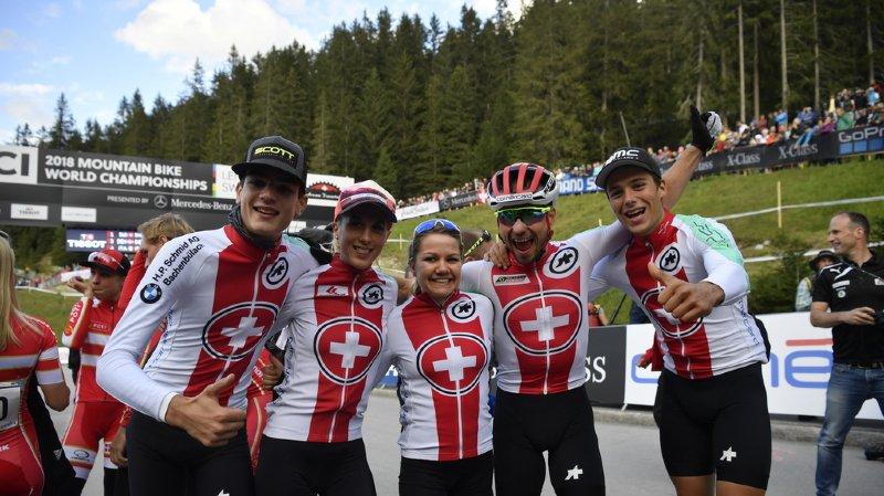 VTT: la Suisse remporte une première médaille d'or aux Championnats du monde de Lenzerheide