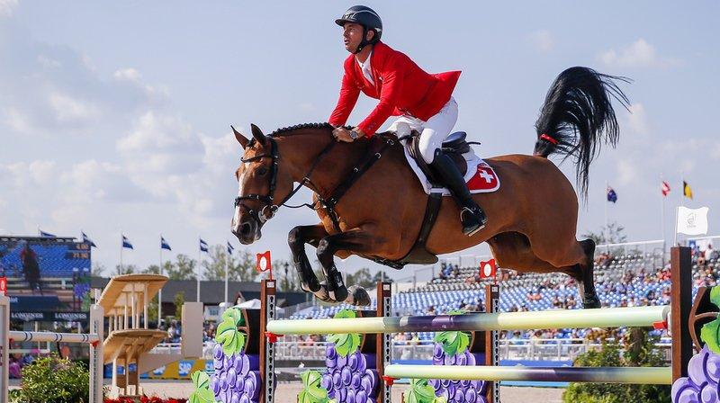 Fuchs et Guerdat (photo) ont signé un superbe exploit dans l'épreuve individuelle de saut d'obstacles des Jeux équestres mondiaux de Tryon.