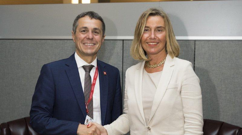 A New York, Ignazio Cassis a aussi rencontré la cheffe de la diplomatie de l'UE Federica Mogherini.