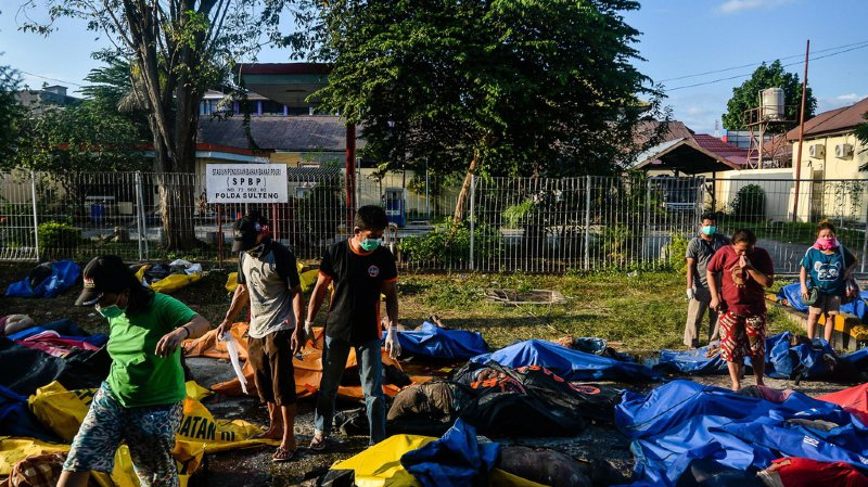 La plupart des victimes ont été recensées à Palu, agglomération de 350'000 habitants sur la côte ouest des Célèbes.