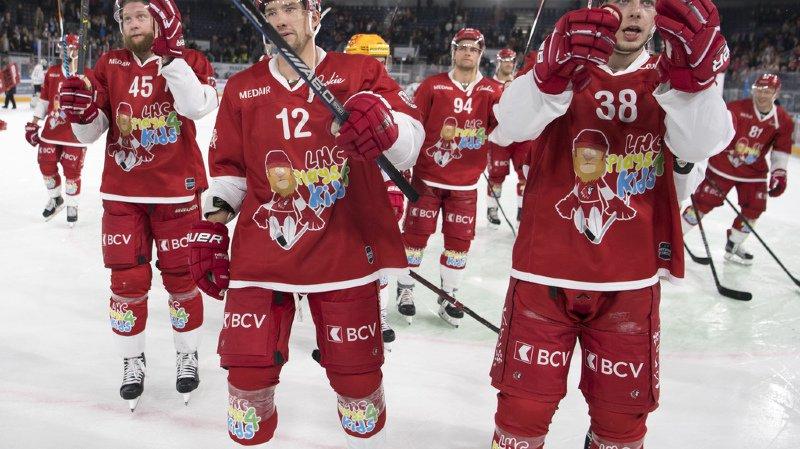 Auteur d'un but et de deux assists, le valaisan Yannick Herren a pris une large part dans le succès du Lausanne HC.