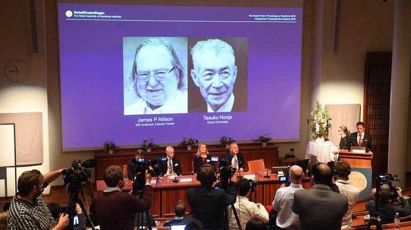 Le Nobel de médecine 2018 à un Américain et un Japonais
