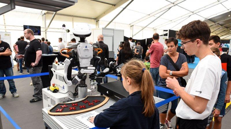 Des robots dans le quartier technique de Capa'cité, pour montrer comment les métiers ont évolué.