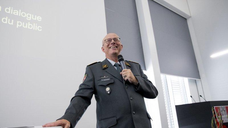 Les formules choc du chef de l'armée face au gratin civil neuchâtelois