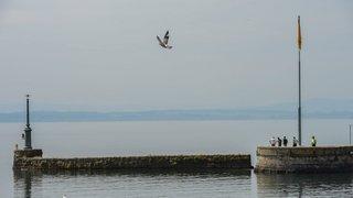 Un môle du port de Neuchâtel fermé aux piétons