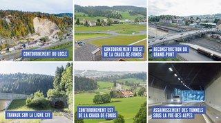 Bientôt 1,6 milliard de francs investis pour la route et le rail dans le haut du canton de Neuchâtel