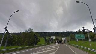 La Chaux-de-Fonds: accident à l'entrée du tunnel sous la Vue-des-Alpes
