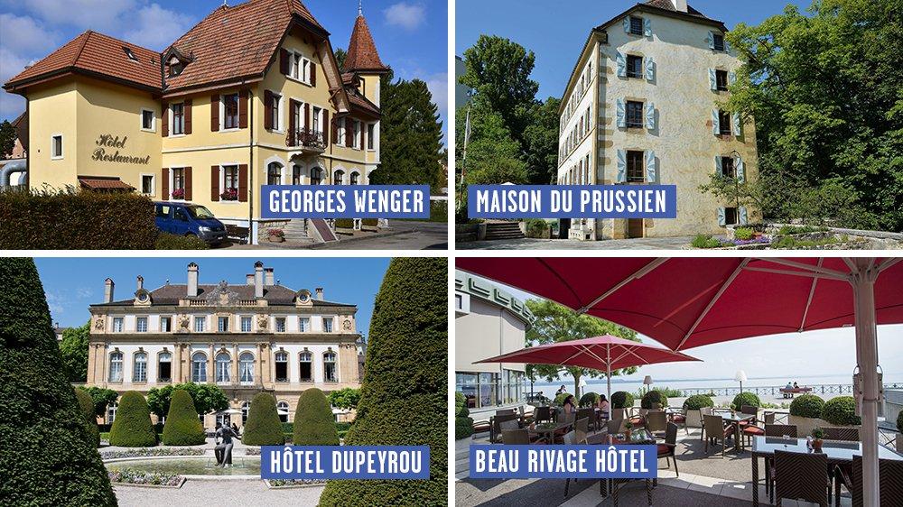Ces quatre établissements font partie des meilleurs de Suisse, selon le guide Gault&Millau.