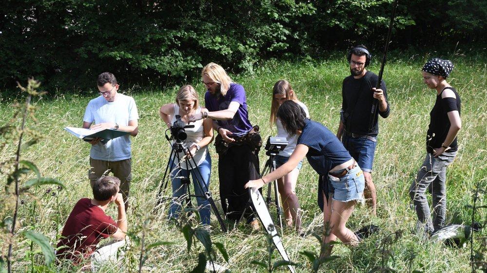"""Des cinéastes en herbe sur le tournage du court-métrage """"Croisées"""""""