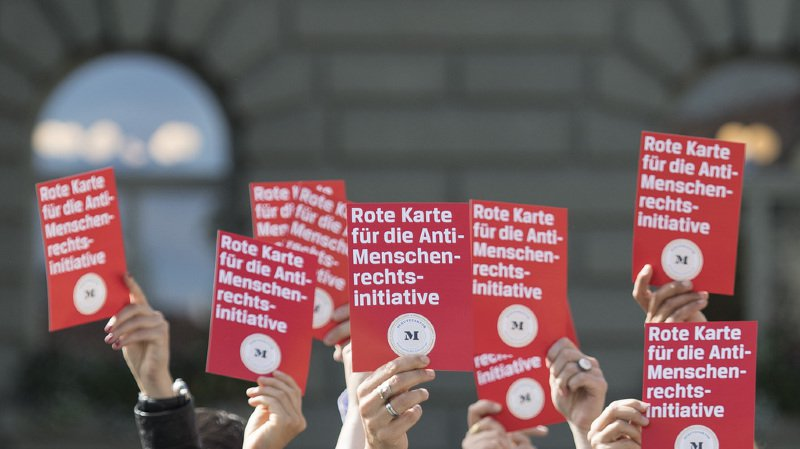 Le texte de l'UDC est aussi une attaque frontale à la protection des droits de l'homme, selon ses opposants. (illustration)