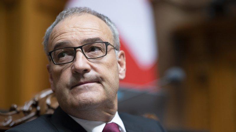 """Pour le ministre de la défense Guy Parmelin, ce projet est """"clairement la meilleure solution""""."""
