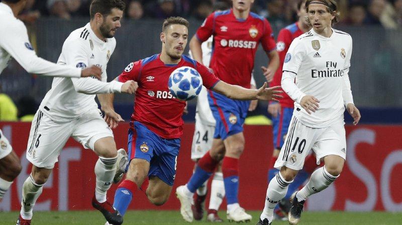 Football - Ligue des Champions: le Real battu à Moscou, Bayern contraint au nul et United piétine