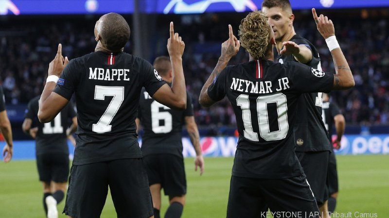 Football - Ligue des Champions: les stars du PSG déclassent l'Etoile Rouge de Belgrade