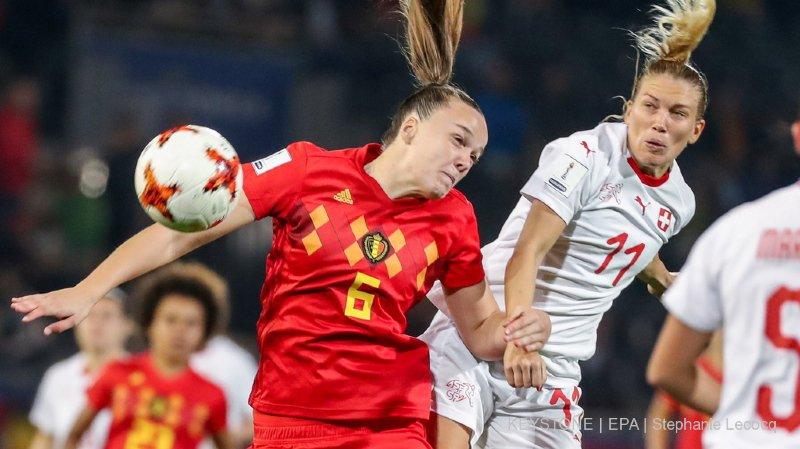Football: les Suissesses tiennent la Belgique en échec et ne sont plus qu'à deux matchs du Mondial