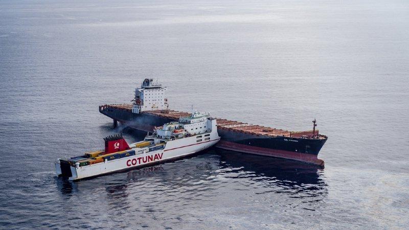Collision entre un navire et un cargo au large de la Corse: pas de blessé, mais une pollution aux hydrocarbures