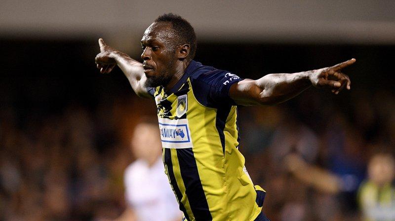 Football - Australie: pour sa première titularisation chez les pros, Usain Bolt inscrit un doublé