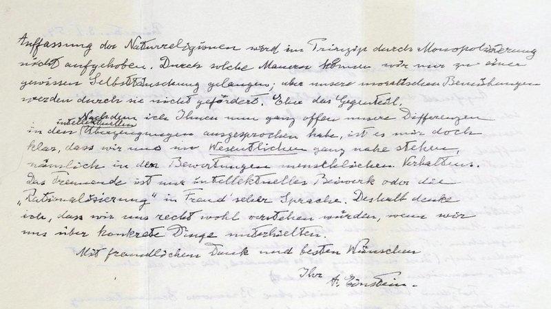 Une lettre d'Albert Einstein où il réfute l'existence de Dieu mise aux enchères pour plus d'un million de dollars