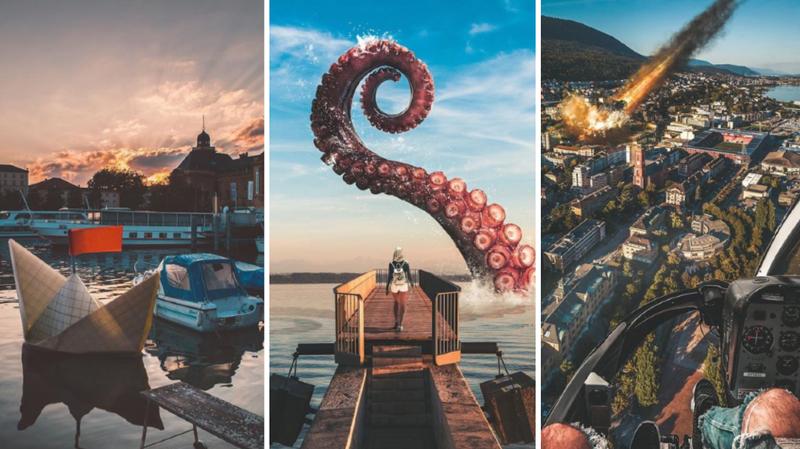 Sur Instagram, un Neuchâtelois donne des allures fantastiques à sa ville