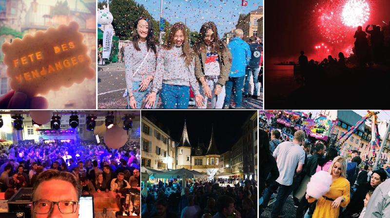 La Fête des vendanges de Neuchâtel vue des réseaux sociaux