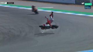 Essais GP Moto de Thaïlande: nouvelle chute spectaculaire de Lorenzo, Lüthi 22e