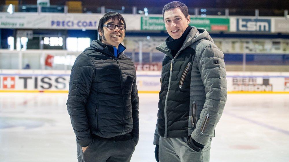 Jean-François Ballester (à gauche) et Bruno Massot ne manquent pas de travail aux Mélèzes.