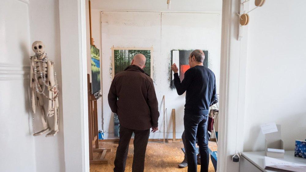 Bon Pied Bon Art, c'est pénétrer dans l'antre des artistes le temps d'un week-end. Ici, l'atelier de Pascal Bourquin.