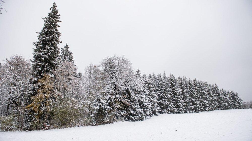 Première neige dans le canton de Neuchatel.