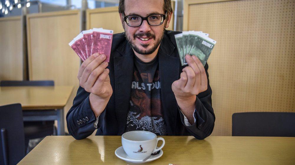 Stéphane Reichen, conseiller communal en charge du projet de monnaie locale. Photo: Christian Galley