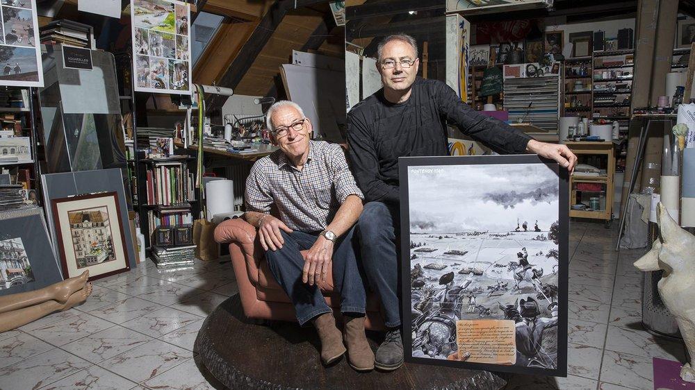 Raoul Cop (à gauche) et Mauro Frascotti présenteront le premier tome de leur série le 15 novembre.
