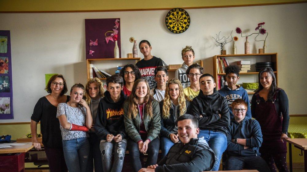 Une classe de terminale au collège Numa-Droz à La Chaux-de-Fonds.