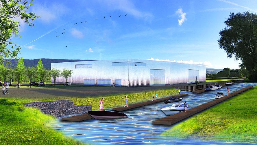 Le port à sec, situé en zone industrielle de Cornaux, aurait pu accueillir 330 bateaux.