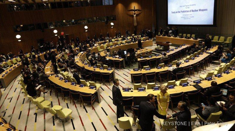 Le traité a été signé par 122 Etats membres de l'ONU. La Suisse, elle, s'est abstenue (archives).