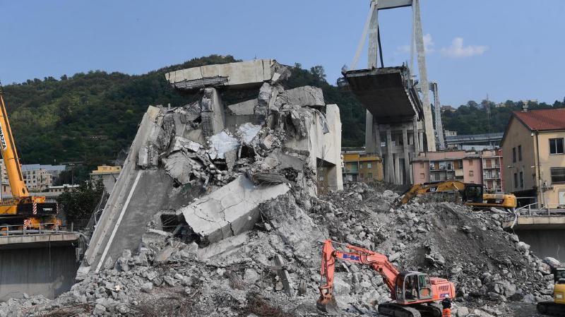 Des débris du pont effondré à Gênes sont arrivés en Suisse pour être examinés